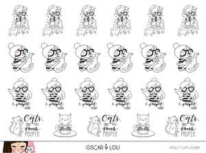 Mini Sheet  - Polly Cat Lover