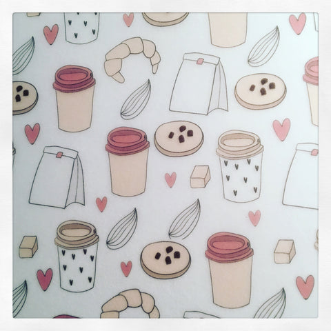 Printed Sheet of Vellum - Coffee & Sweets