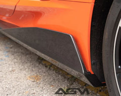 "C8 CORVETTE Carbon Fiber ""5VM"" Style Side Skirts"