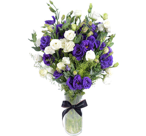 Mixed Eustoma with Vase