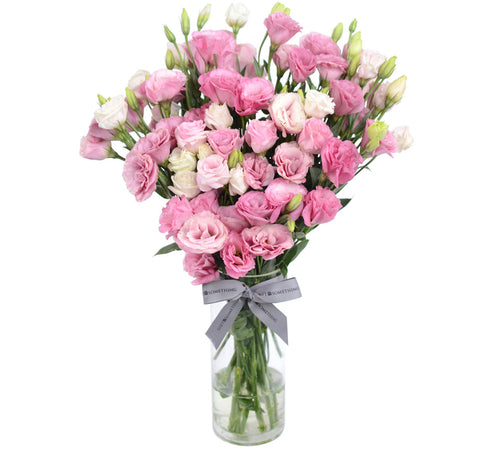 Pink Eustoma with Vase