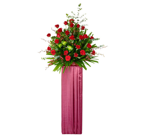 Elegant Red Roses Flower Stand