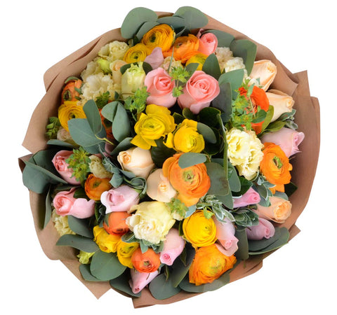 Colorful Ranunculus Bouquet