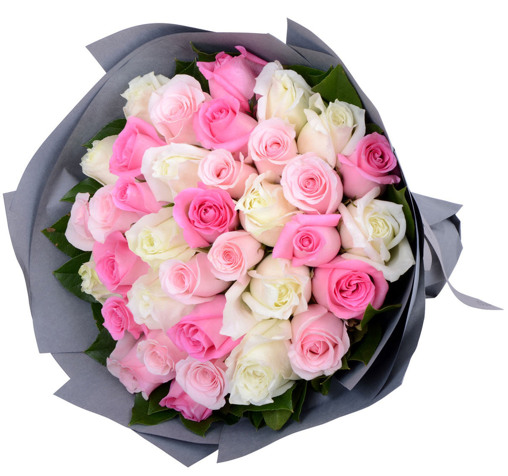 Pink Lady Hand Bouquet Gift Flowers Malaysia