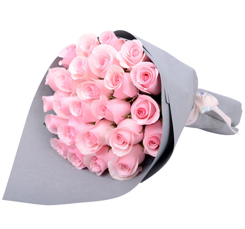 Pink Roses Only Bouquet for Valentine's Day