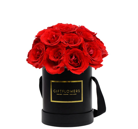 Roses in Round Flower Box - Standard