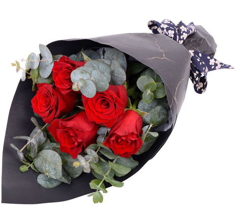 Little Red Roses Bouquet for Valentine's Day