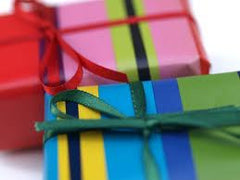 Giftwrap and card
