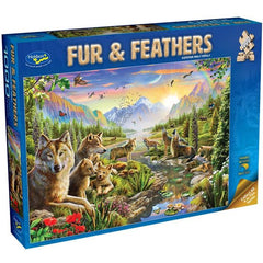 Summer Wolf Family Puzzle 1000pc