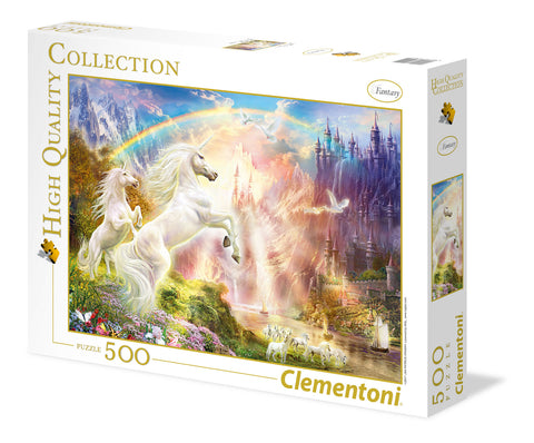 500 Piece Puzzle Sunset Unicorn Clementoni