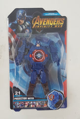 Captain America Avengers Projector Watch