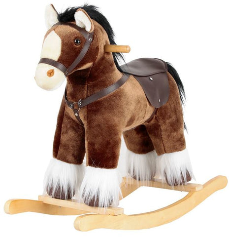 Rocking Horse Brown Clydesdale