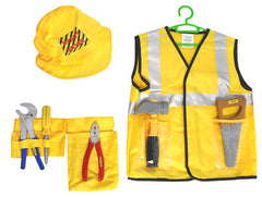 Construction Workers Vest & Accessories dress up costume for kids