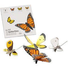 3D NZ Butterflies