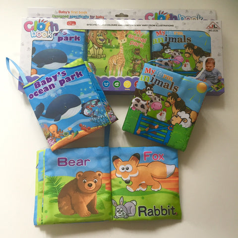Cloth Books Animals Set of 3