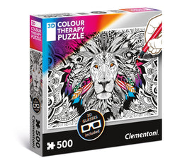 Clementoni 3D Colour Therapy Puzzle Lion (500pc)