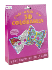 Ooly 3D Colorable Breezy Butterfly Masks