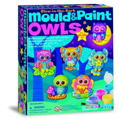 kidz-stuff-online - Glow In The Dark Mould & Paint Owls