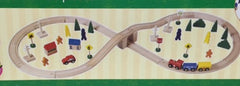 50 piece wooden train set
