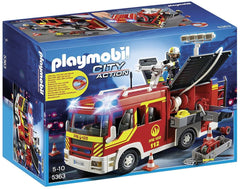 playmobil fire engne with lights and sounds