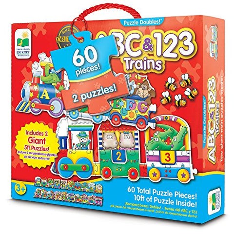 ABC & 123 Trains 60 Piece Floor Puzzle