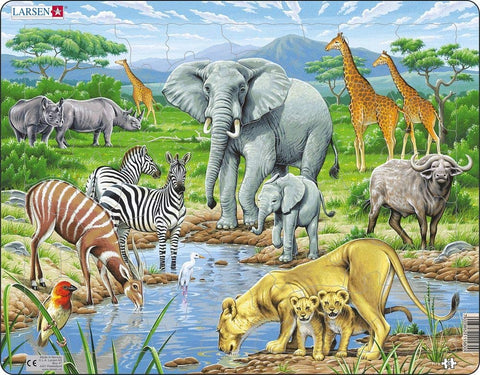 African Savannah puzzle 65 pieces
