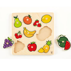 Wooden peg puzzle fruit