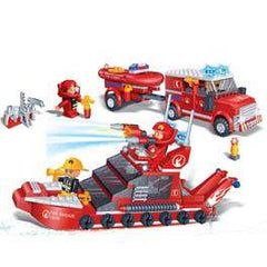 Fire car and boat set 8312
