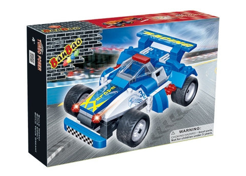 Blue Eagle Racing Car with Pull Back 8612