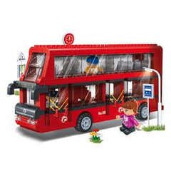 Double Decker Bus Set Banbao Blocks 8769