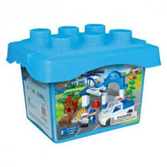 kidz-stuff-online - Young Ones Police Station Set in a  Bucket  - 9608