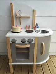 kidz-stuff-online - Wooden Kitchen silver with accessories
