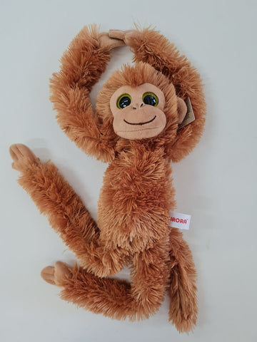 Brown Hanging Monkey Adora