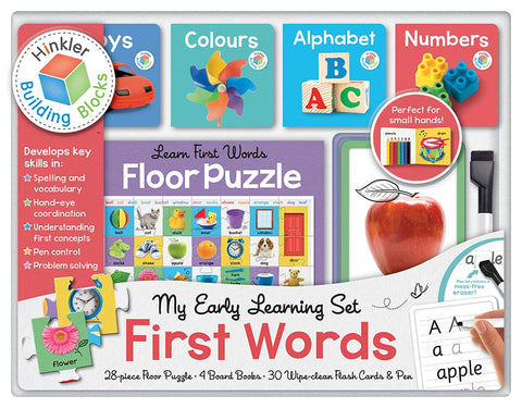 My Early Learning Set First Words- Books & Puzzle