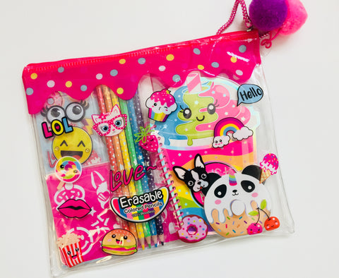 Stationery set in a bag lol