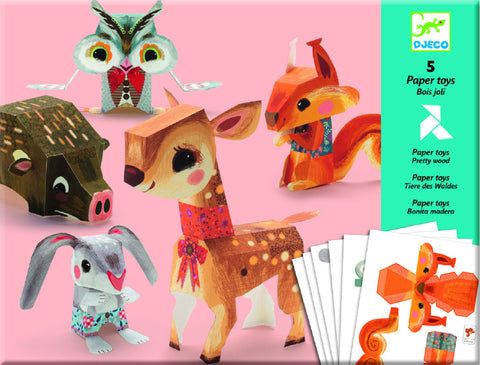 Djeco Paper toys Pretty wood