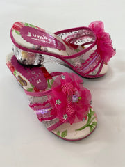 Dress Up Shoes - F7087 Hot Pink Flower Shoes