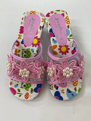 Dress Up Shoes - F7206 Pink Flower Shoes