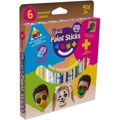 Face Paint Sticks 6 Assorted