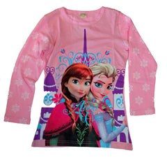 Frozen Print Long Sleeved T-Shirt - Size 7