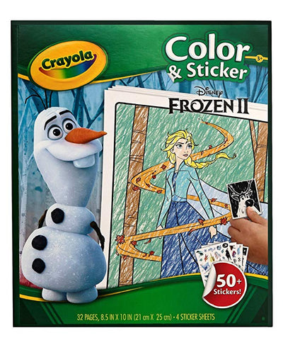 Frozen 2 Colour and Sticker Book Crayola