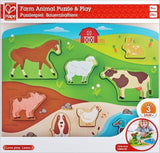 Farm Animals Stand Up Wooden Puzzle Hape