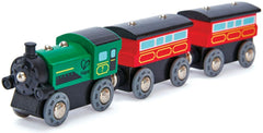 wooden steam train 3 carriages from hape