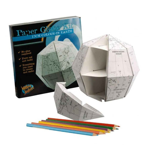 Paper world Globe - Colour In