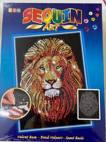 Sequin Art Lion