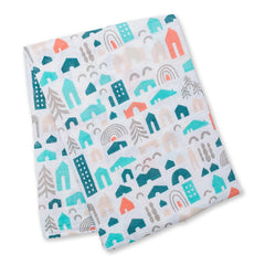 Lulujo Muslin Swaddle Blanket - Neighbourhood