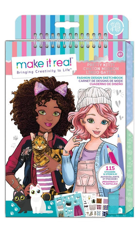 Make It Real Pretty Kitty Fashion Design Sketchbook