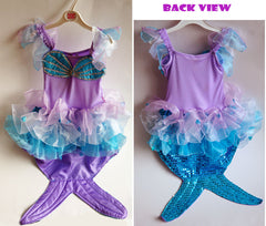 Fairy Girls Sparkle Mermaid Dress Up SMALL