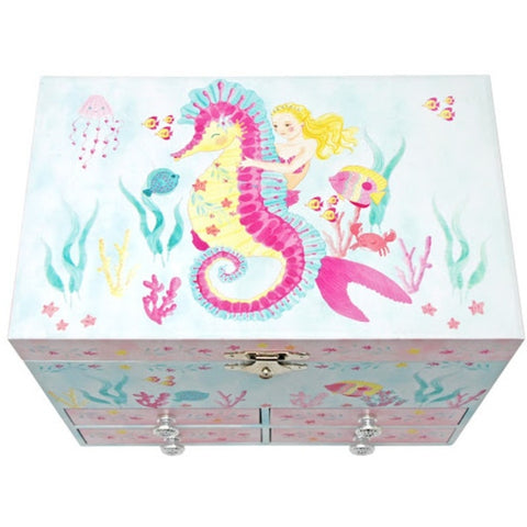 Mermaid Musical Jewellery Box Pink Poppy