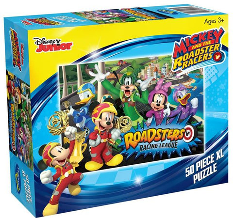 Mickey and the Roadster Racers Roadsters Racing League 50 Piece XL Puzzle